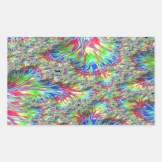 Rainbow Fusion Fractal Rectangular Sticker