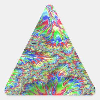 Rainbow Fusion Fractal Triangle Sticker