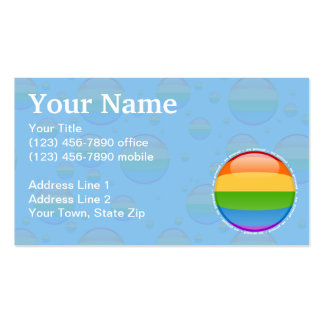 Rainbow Gay Lesbian Pride Bubble Flag Pack Of Standard Business Cards