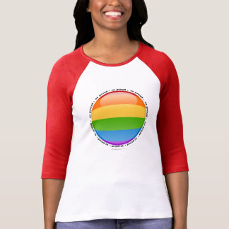 Rainbow Gay Lesbian Pride Bubble Flag T-Shirt