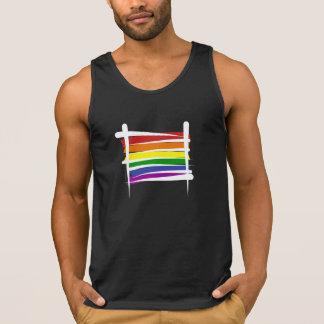 Rainbow Gay Pride Brush Flag Singlet