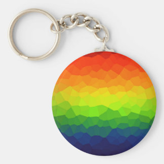 Rainbow Gay Pride Colors LBGT Symbol Basic Round Button Key Ring