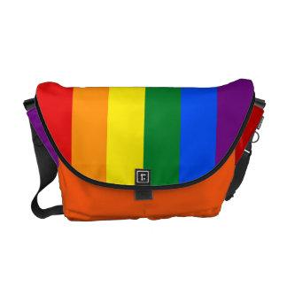 RAINBOW GAY PRIDE FLAG COMMUTER BAG