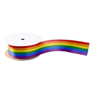 RAINBOW GAY PRIDE FLAG | RIBBON SATIN RIBBON