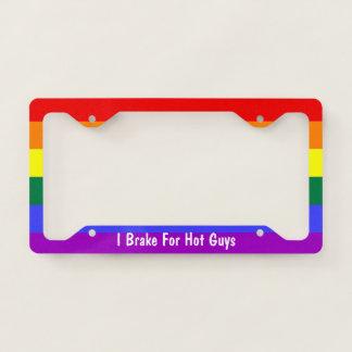 Rainbow Gay Pride I Brake For Hot Guys