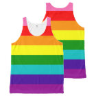 Rainbow Gay Pride LGBT Original 8 Stripes Flag All-Over Print Singlet
