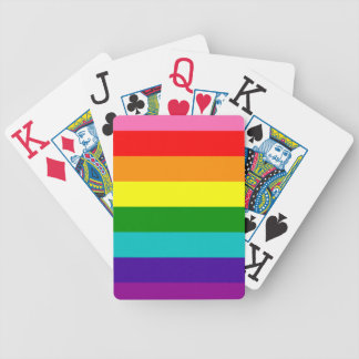 Rainbow Gay Pride LGBT Original 8 Stripes Flag Bicycle Playing Cards