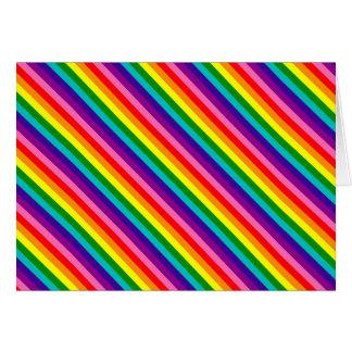 Rainbow Gay Pride LGBT Original 8 Stripes Flag Card