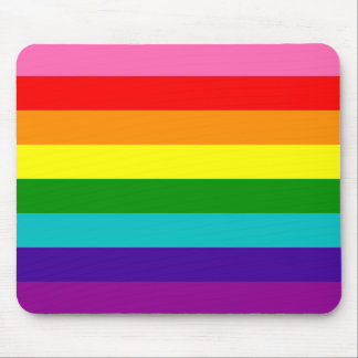 Rainbow Gay Pride LGBT Original 8 Stripes Flag Mouse Pad