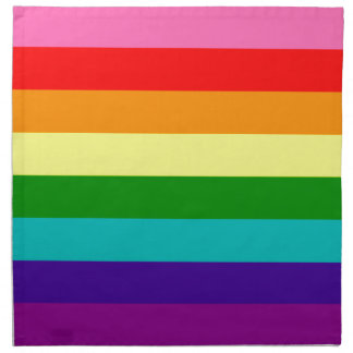 Rainbow Gay Pride LGBT Original 8 Stripes Flag Napkin