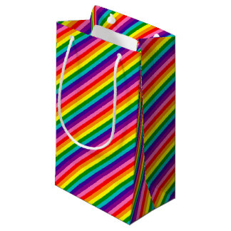 Rainbow Gay Pride LGBT Original 8 Stripes Flag Small Gift Bag