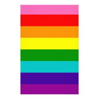 Rainbow Gay Pride LGBT Original 8 Stripes Flag Stationery