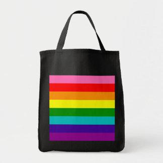 Rainbow Gay Pride LGBT Original 8 Stripes Flag Tote Bag