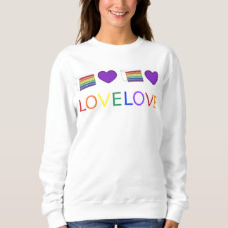 Rainbow Gay Pride Love Unity Cake Heart Sweatshirt