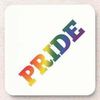 Rainbow Gay Pride On White Coaster
