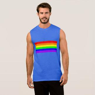 Rainbow Gay Pride Royal Blue Sleeveless Sleeveless Shirt