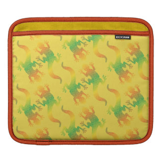 Rainbow Gecko Party iPad Sleeve