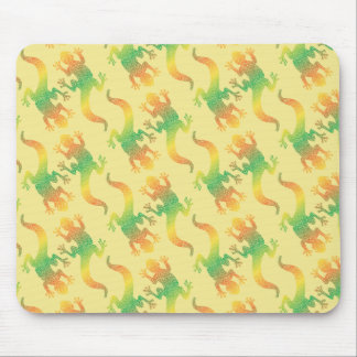 Rainbow Gecko Party Mouse Pad