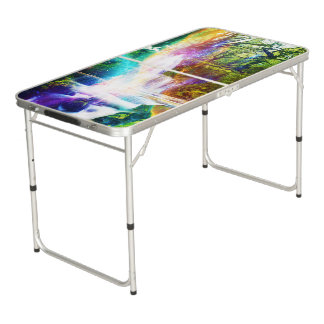 Rainbow Girl Garden Beer Pong Table