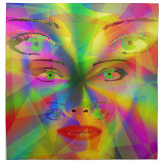 Rainbow girl napkin