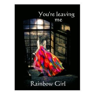 Rainbow Girl Postcard
