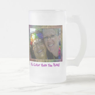 Rainbow Girls Frosted Glass Beer Mug