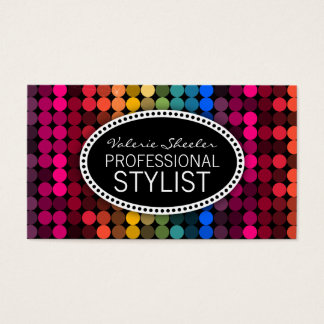 Rainbow Glam Business Card