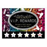 Rainbow Glam Custom Salon Loyalty Punch Card Business Card Template