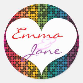 Rainbow Glam Love Sticker