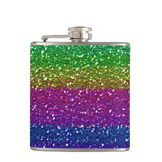 Rainbow glitter Flask