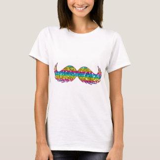 Rainbow Glitter Mustache T-Shirt