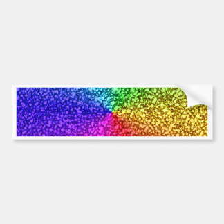 rainbow glitter sparkles bumper sticker