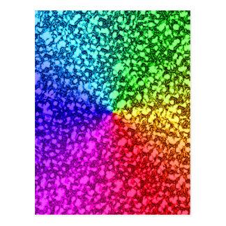 rainbow glitter sparkles postcard