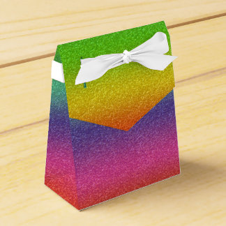 Rainbow Glitter Texture Favor Box