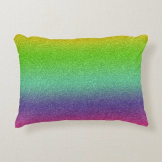 Rainbow Glitter Texture Home Decor Decorative Cushion