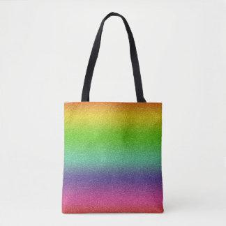 Rainbow Glitter Texture Tote Bag