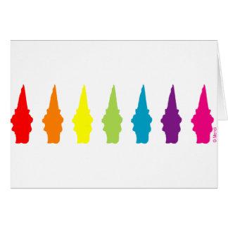Rainbow Gnomes Greeting Card