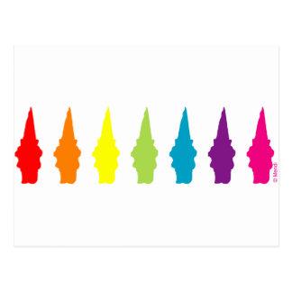 Rainbow Gnomes Postcard