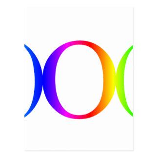 Rainbow Goddess Symbol #2 Postcard