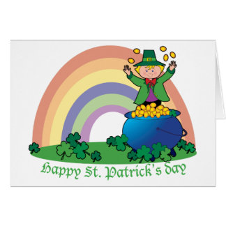 Rainbow Gold Leprechaun Card