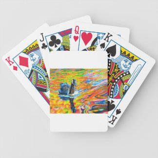 Rainbow Goose Bicycle Playing Cards