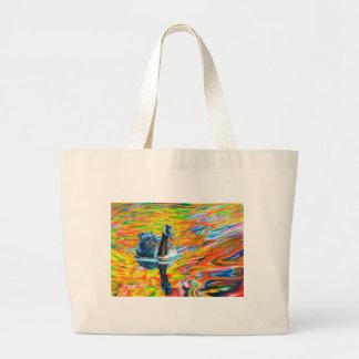 Rainbow Goose Large Tote Bag