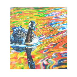Rainbow Goose Notepad