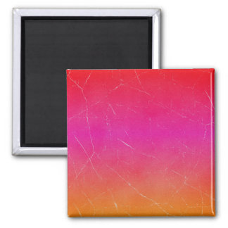 Rainbow Gradient Abstract Art 2 Inch Square Magnet
