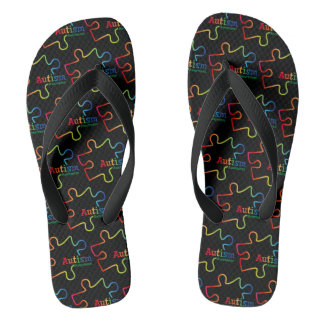 Rainbow Gradient Autism Awareness Thongs