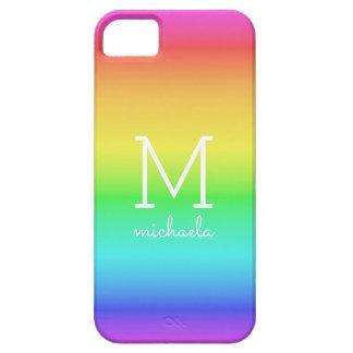 Rainbow Gradient custom monogram phone cases