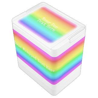 Rainbow Gradient custom text coolers