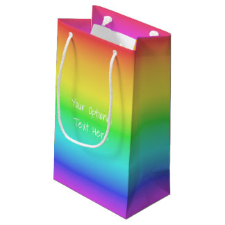 Rainbow Gradient custom text gift bags