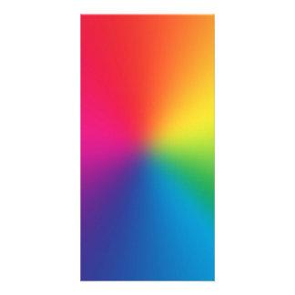 Rainbow Gradient - Customized Rainbows Template Personalised Photo Card