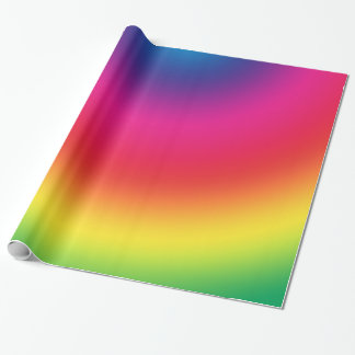Rainbow Gradient - Customized Rainbows Template Wrapping Paper